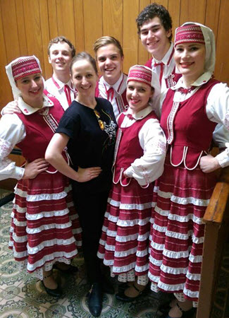 Verchovyna dancers at Ukrainian Independence Day Geelong
